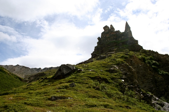Hiking in Denali. This is a beautiful castle-like structure made of just a pile of rocks.